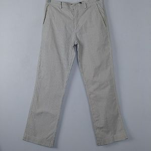 Marc Jacobs Striped Chinos Ivory Blue 32 x 30
